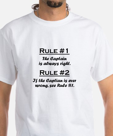 Captain White T-Shirt