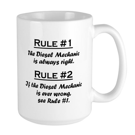 Diesel Mechanic Large Mug