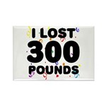 I Lost 300 Pounds! Rectangle Magnet