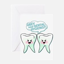 Obey Your Dental Hygienist Greeting Card
