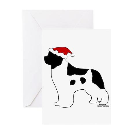 Landseer Santa Greeting Card