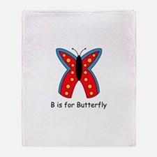 B is for Butterfly Throw Blanket