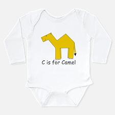 C is for Camel Long Sleeve Infant Bodysuit