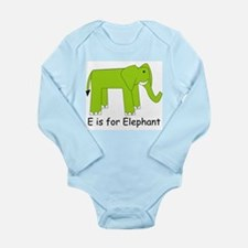 E is for Elephant Long Sleeve Infant Bodysuit