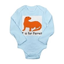 F is for Ferret Long Sleeve Infant Bodysuit