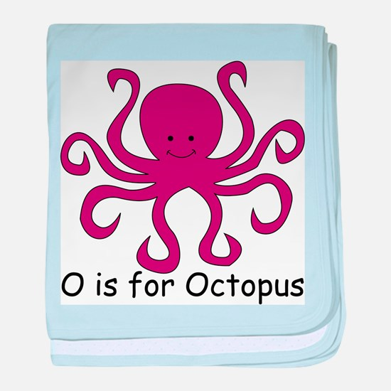 O is for Octopus baby blanket
