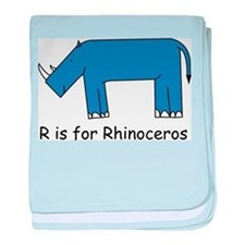 R is for Rhino baby blanket