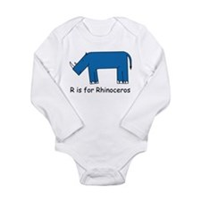 R is for Rhino Onesie Romper Suit