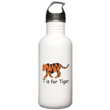 T is for Tiger Water Bottle