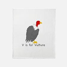 V is for Vulture Throw Blanket