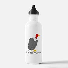V is for Vulture Water Bottle