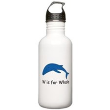 W is for Whale Water Bottle