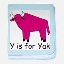 Y is for Yak baby blanket