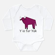 Y is for Yak Long Sleeve Infant Bodysuit