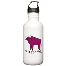 Y is for Yak Water Bottle