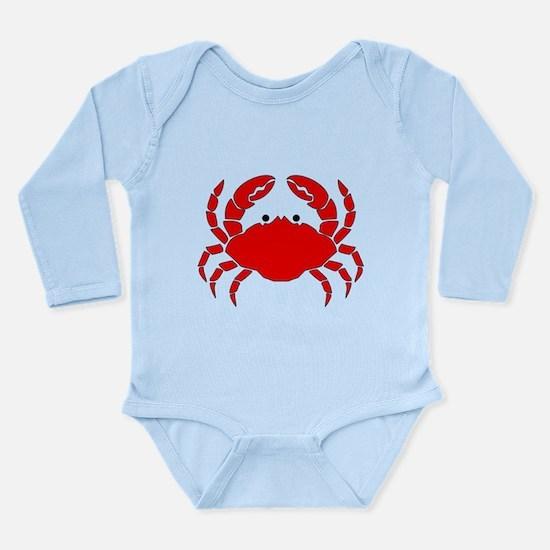 Crab Long Sleeve Infant Bodysuit