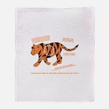 Tiger Facts Throw Blanket