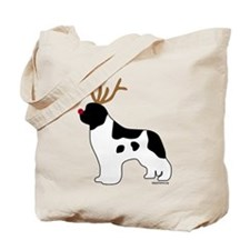 Landseer Reindeer Tote Bag