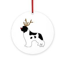 Landseer Reindeer Ornament (Round)