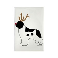 Landseer Reindeer Rectangle Magnet