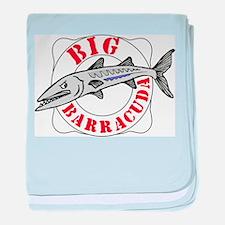 Big Barracuda baby blanket