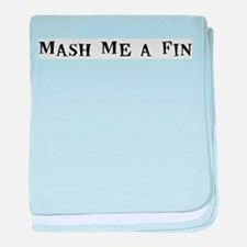 Mash Me a Fin baby blanket
