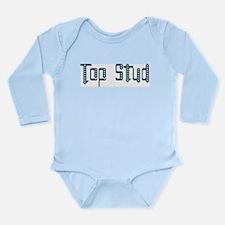 Top Stud Long Sleeve Infant Bodysuit