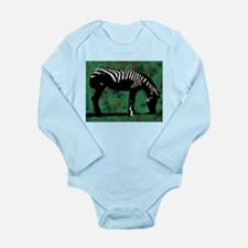 Zebra Long Sleeve Infant Bodysuit