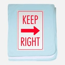 Keep Right baby blanket