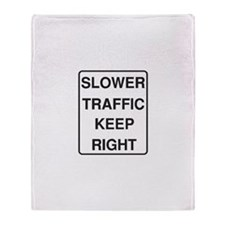Slower Traffic Throw Blanket