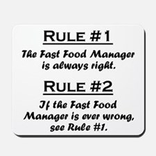 Fast Food Manager Mousepad