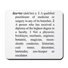 Doctor Definition Mousepad