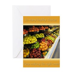 Healthy Choices Greeting Card