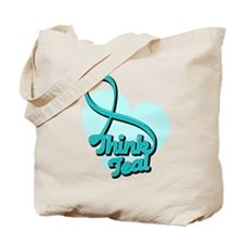 PCOS Think Teal Tote Bag