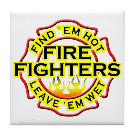 Firefighters, Hot! Tile Coaster