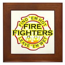 Firefighters, Hot! Framed Tile