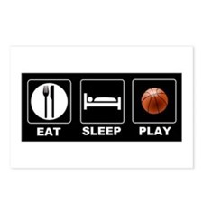 Eat Sleep Play Basketball Postcards (Package of 8)