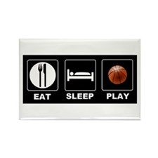 Eat Sleep Play Basketball Rectangle Magnet (100 pa
