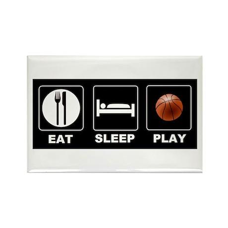 Eat Sleep Play Basketball Rectangle Magnet (10 pac