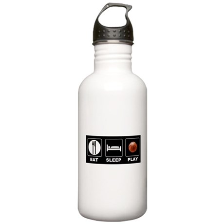 Eat Sleep Play Basketball Stainless Water Bottle 1