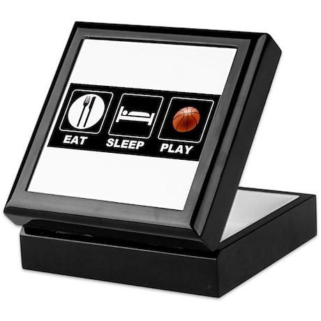 Eat Sleep Play Basketball Keepsake Box