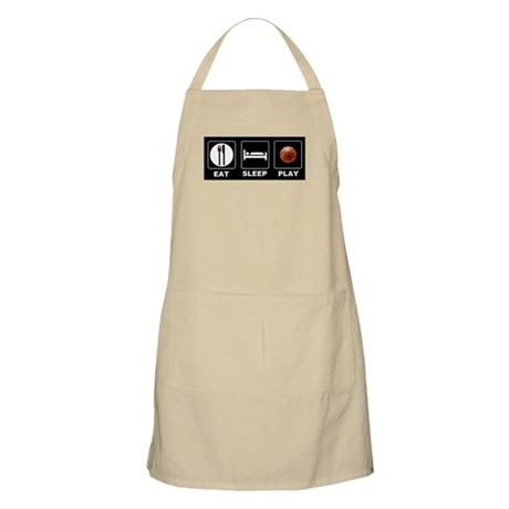 Eat Sleep Play Basketball Apron