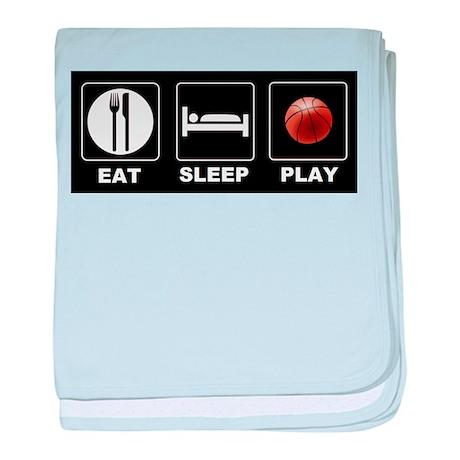 Eat Sleep Play Basketball baby blanket