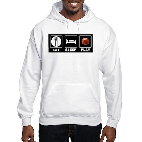 Eat Sleep Play Basketball Hooded Sweatshirt