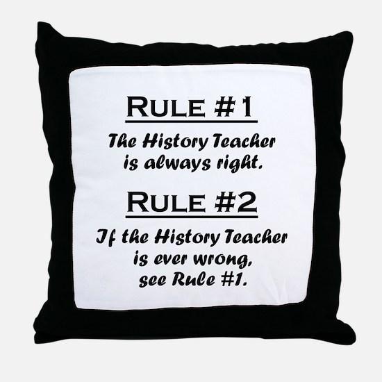 History Teacher Throw Pillow