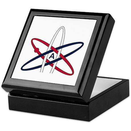 Atheist Symbol RWB Keepsake Box