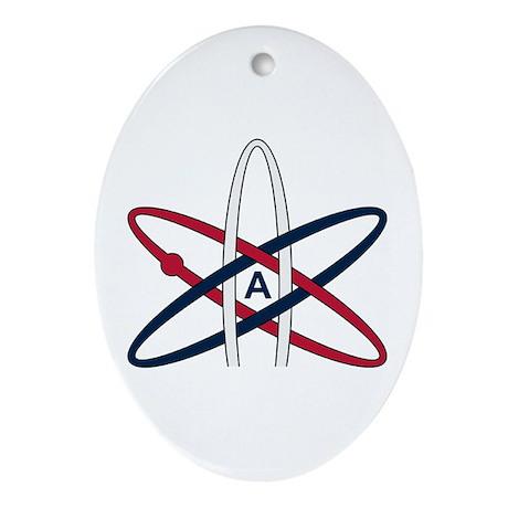 Atheist Symbol RWB Ornament (Oval)