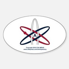 Atheist Symbol RWB Decal
