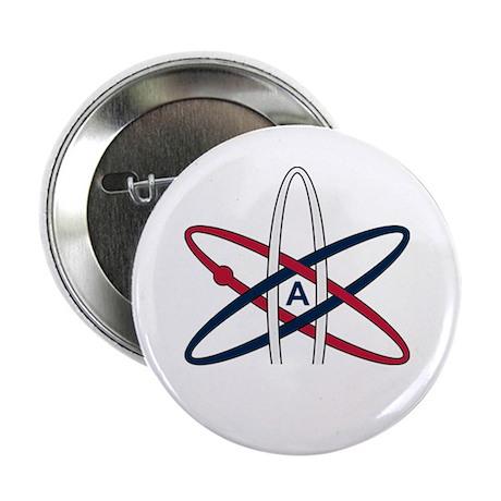 """Atheist Symbol RWB 2.25"""" Button"""