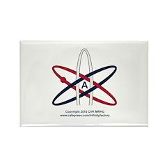 Atheist Symbol RWB Rectangle Magnet (100 pack)